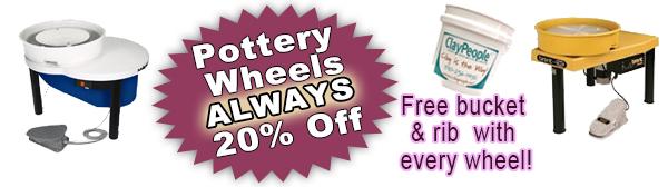 Pottery Wheels always 20% off