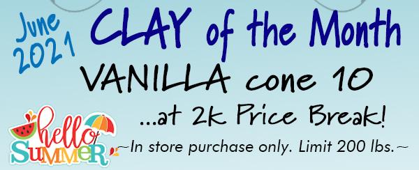 Vanilla cone 10 clay on sale