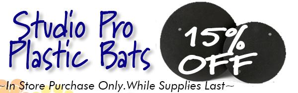 Studio Pro Plastic Bats 15% off